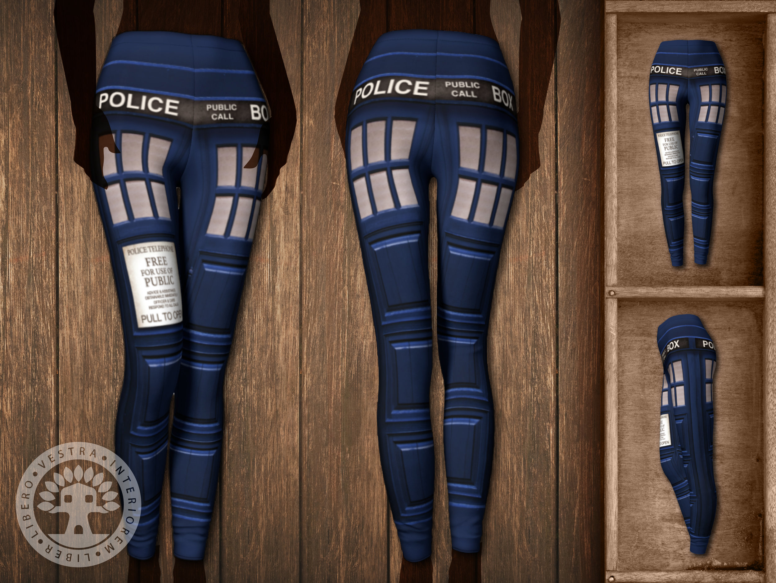 fa52a29d45f8d DOCTOR WHO: Tardis Leggings — ClubHouse Collective