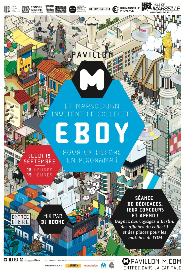eBoy exhibition Pavillon M