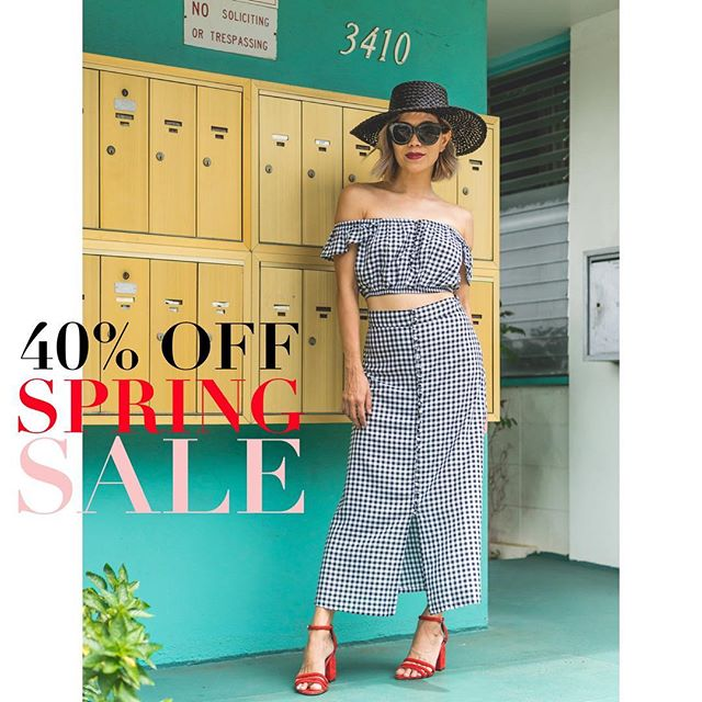Hey all! It's spring cleaning time! Enter code SPRING40 at checkout to get 40% off your purchase on-line! Showroom too! *** 40% discount will be honored on styles that are on-line only**** All other items in the showroom that are not on-line will be 20% off (excluding new SUMMER collection which is regular price) Happy SALE shopping. Code good through 5/29. #thatsalesale #springcleaningsale #onlineshopping #onlineboutique #onlinesale