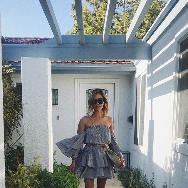 The Ashlyn Dress goes to Cali with @accordingto_t