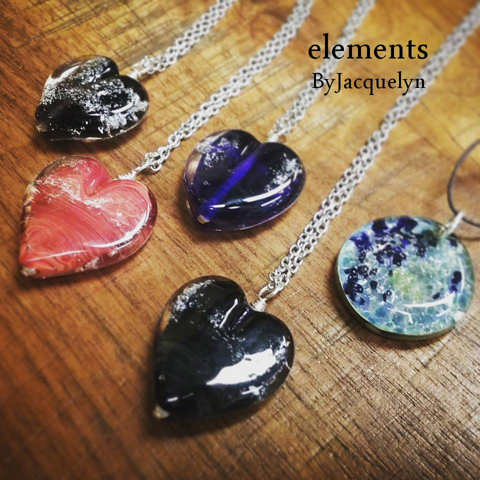 Memorial Heart And Touch Stone Pendants