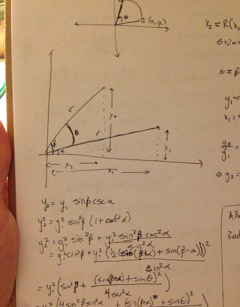 It's actually only trig, despite what it may or may not look like to you.