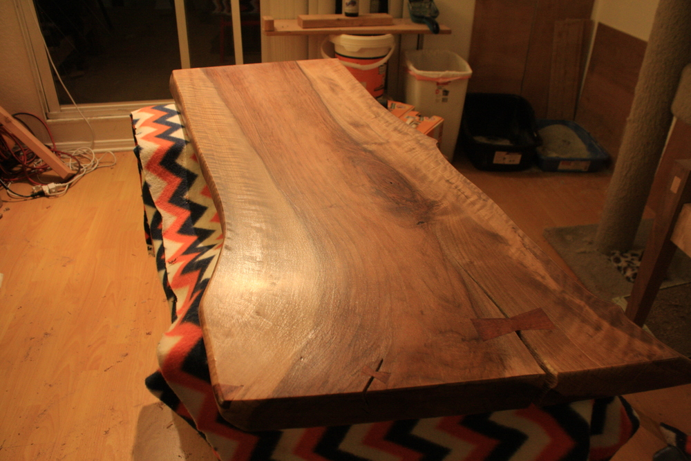 First coat sanded with 400 grit sandpaper and ready for a second coat.