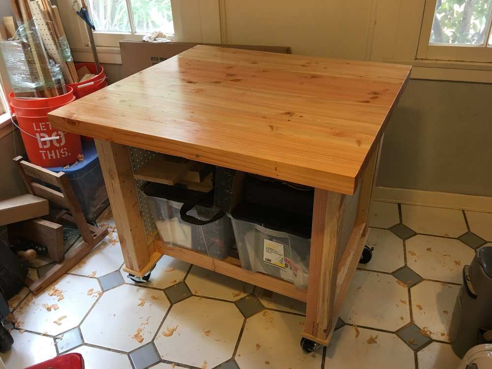 New mini portable work bench.