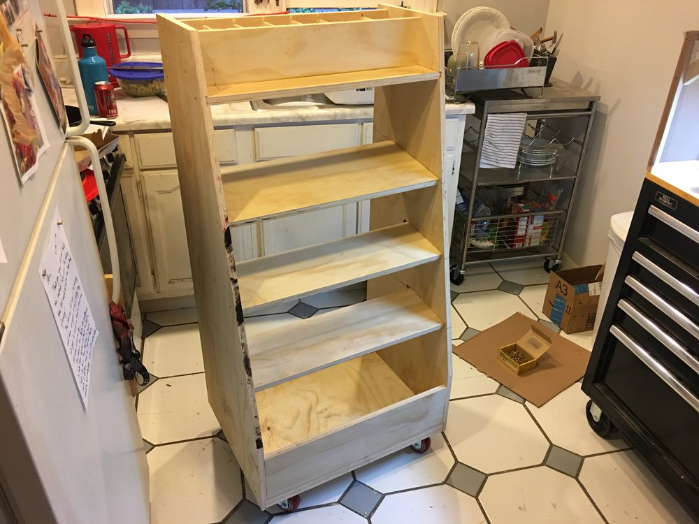 Adam Savage style rolling tool rack