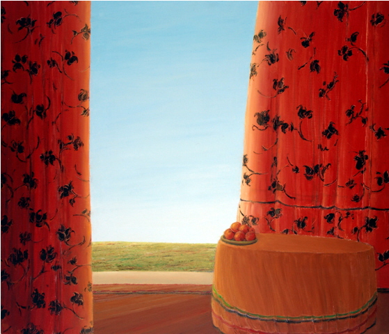Red III - Rouge III, 2004, 40x50cm, oil on canvas - huile sur toile, sold - vendu