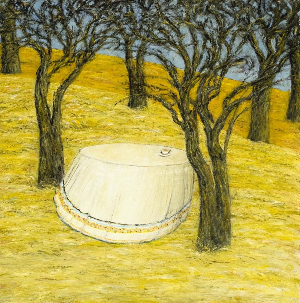 Autumn - L'Automne, 2006, 60x60cm, oil on canvas - huile sur toile, sold - vendu