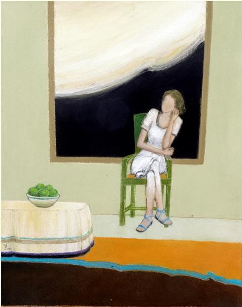 Solitude - La Solitude, 2005, 40x50cm, oil on canvas - huile sur toile, sold - vendu