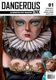 Dangerous Ink Alternative Art Magazine , UK  cover art by Leslie Ditto