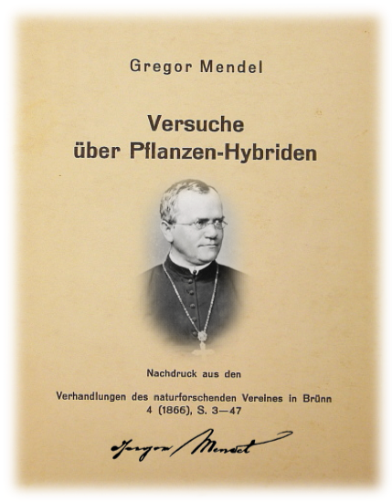 Figure 1.  Gregor Mendel's 1866 publication.