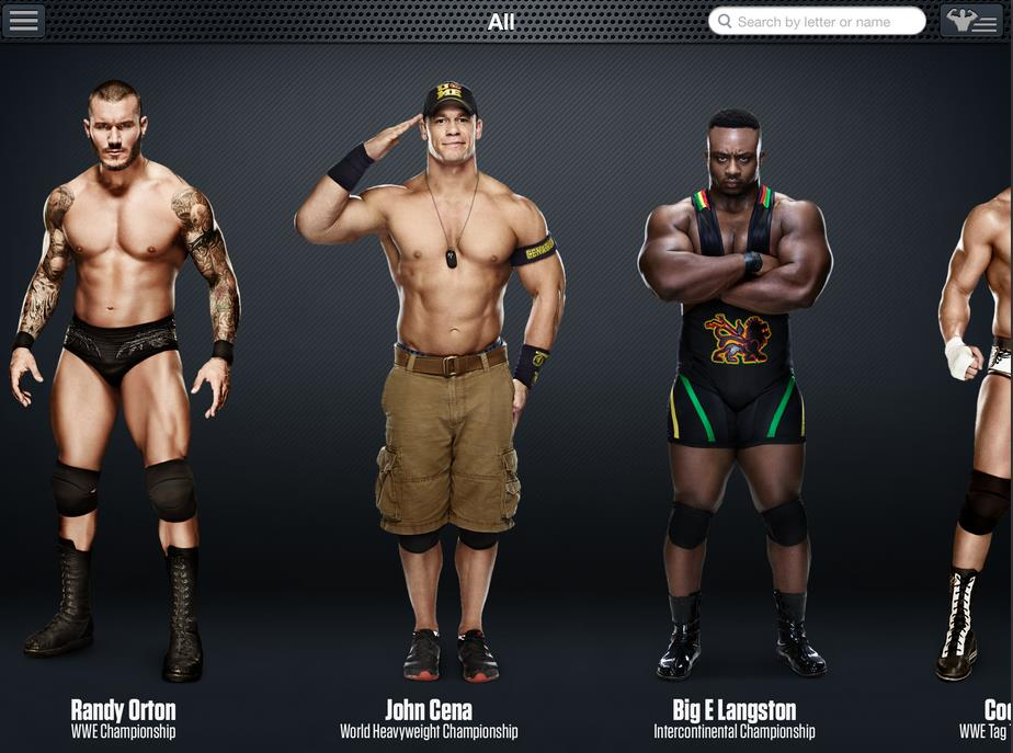 WWE App: Superstar Directory & Bios