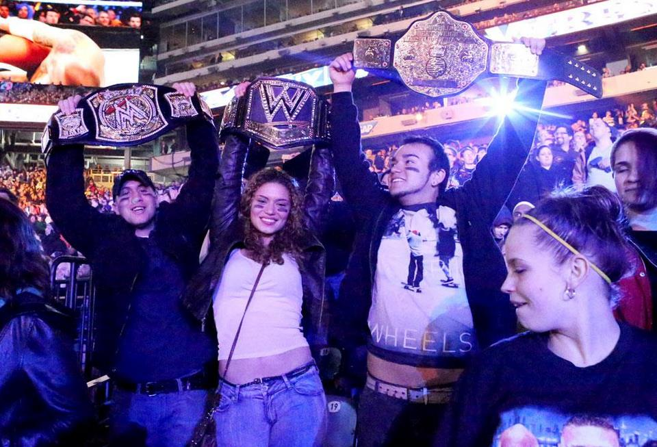 Fans from around the world congregate at MetLife Stadium for WrestleMania 29.