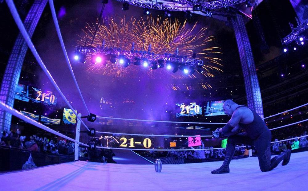 The Undertaker goes 21-0, continuing his famed undefeated streak at WrestleMania.
