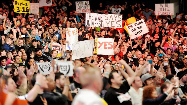 The WWE Universe speaks its mind at WWE Monday Night Raw -- both via in-arena signage and on social media.