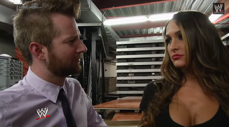 "Social Media Producer Paul Geraghty chats with WWE Diva Nikki Bella about an upcoming social campaign for ""Total Divas."""
