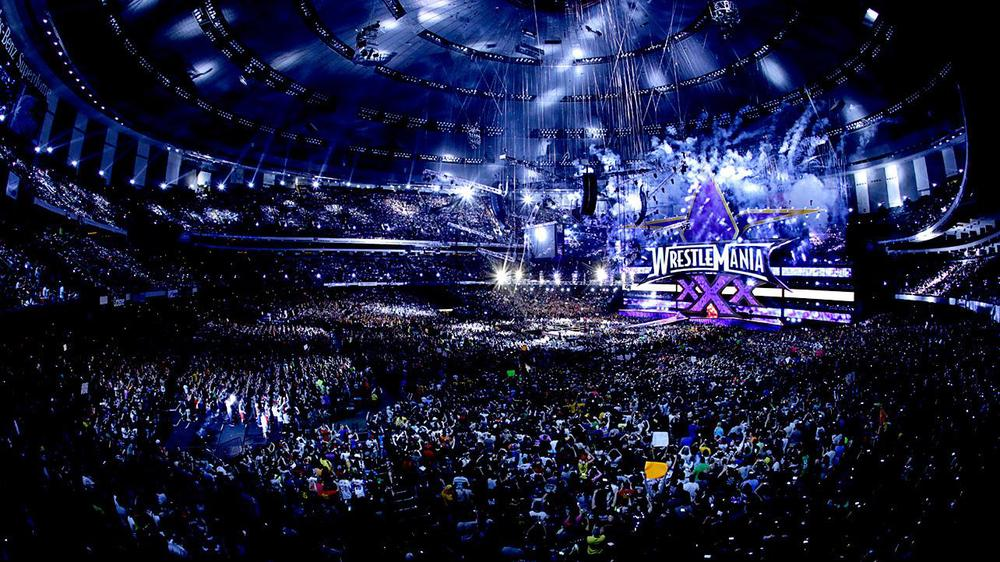 More than 70,000 pack the sold-out Mercedes-Benz Superdome for WWE WrestleMania 30.