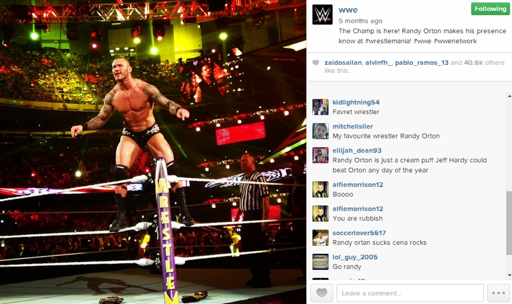 Orton defends his WWE Title