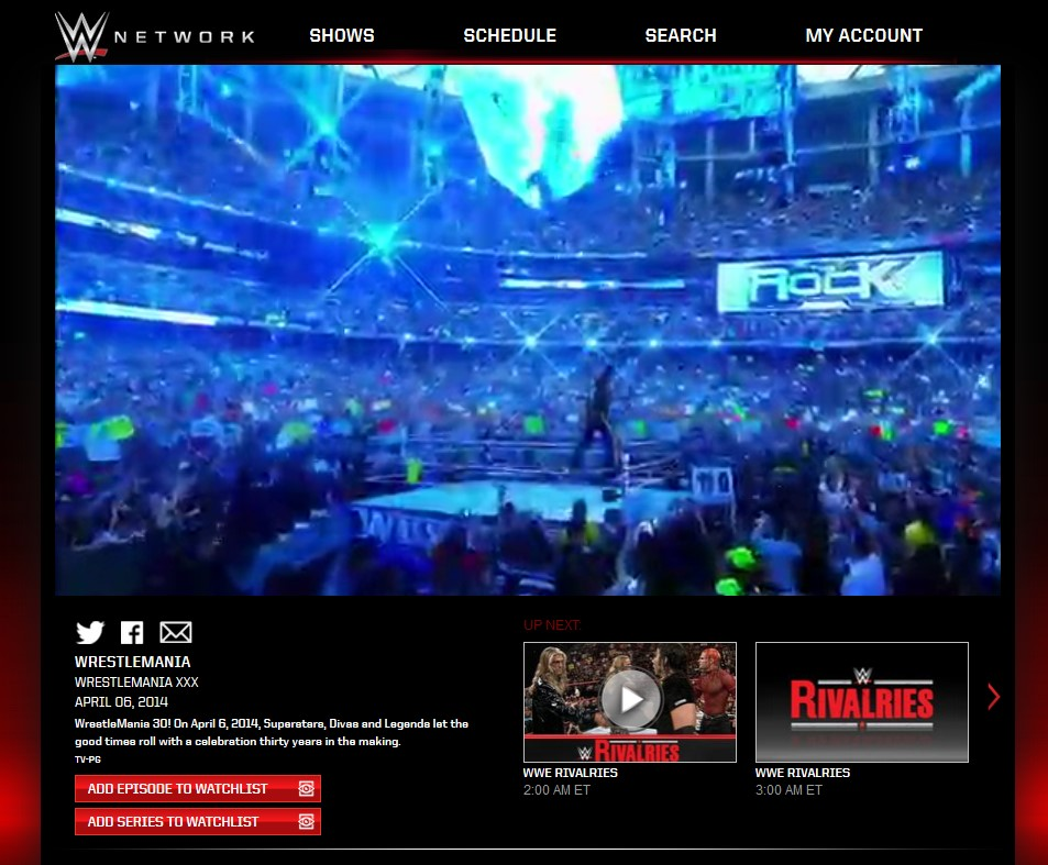 With WWE Network viewersand traditional pay-per-view viewers (cable & satellite) combined, WWE WrestleMania 30 was the most-watched WrestleManiaof all time.
