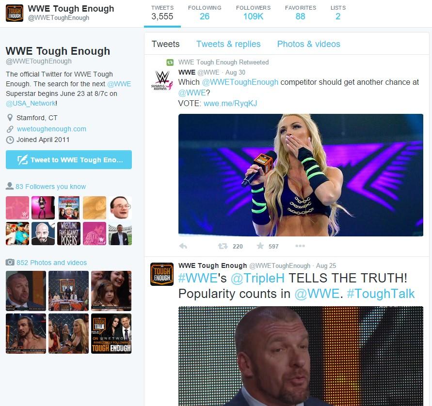 WWE Tough Enough on Twitter