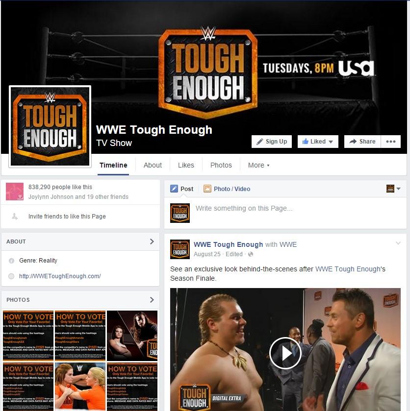 WWE Tough Enough on Facebook