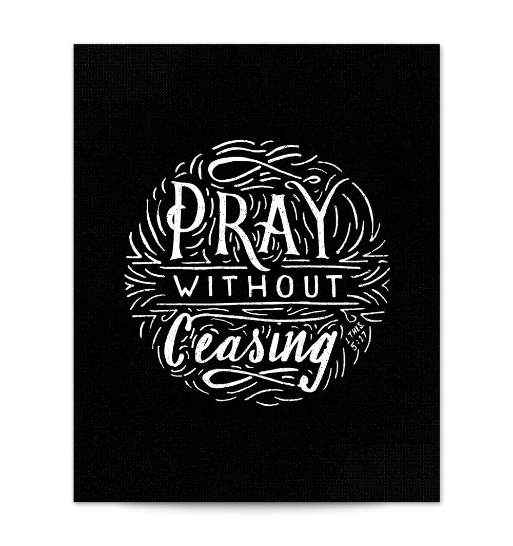 Pray without ceasing scripture type for Pray without ceasing coloring page