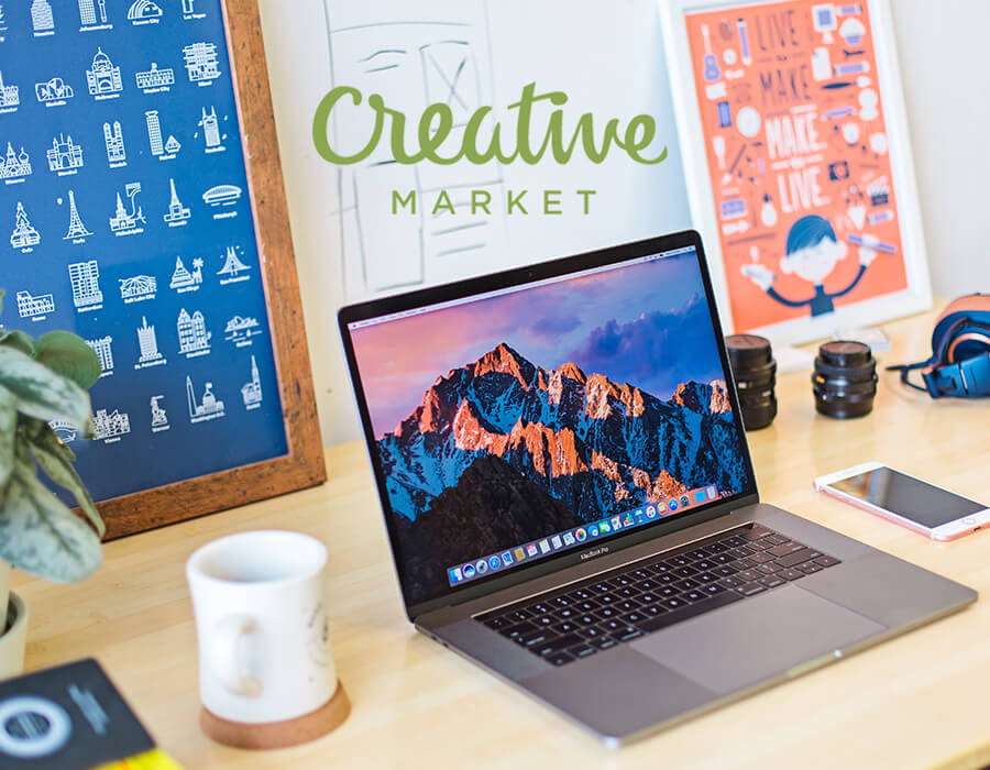 Fonts / Graphics / Themes - Creative Market offers everything from hand-lettered fonts to logo templates. I use it for finding quick design assets & illustrations when I'm needing to save time. You can even use it to sell your own designs. Check out the free goods of the week using the link below.