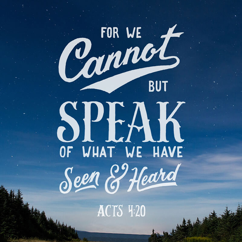 Acts 4:20