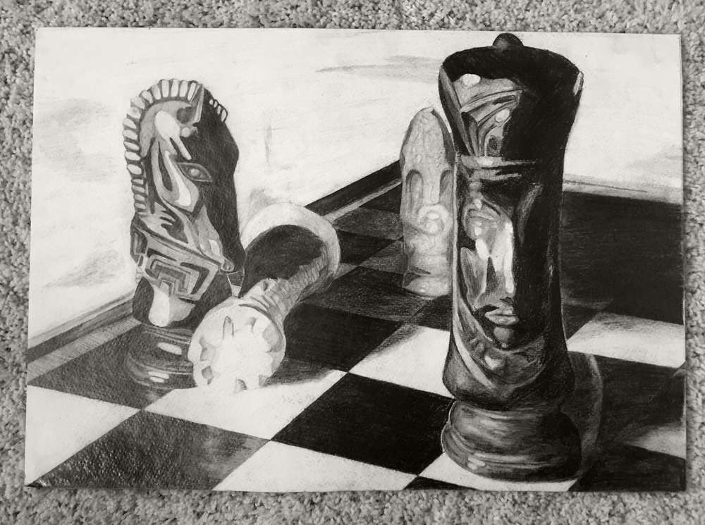 Chessmen study  |  Pencil  |  2009