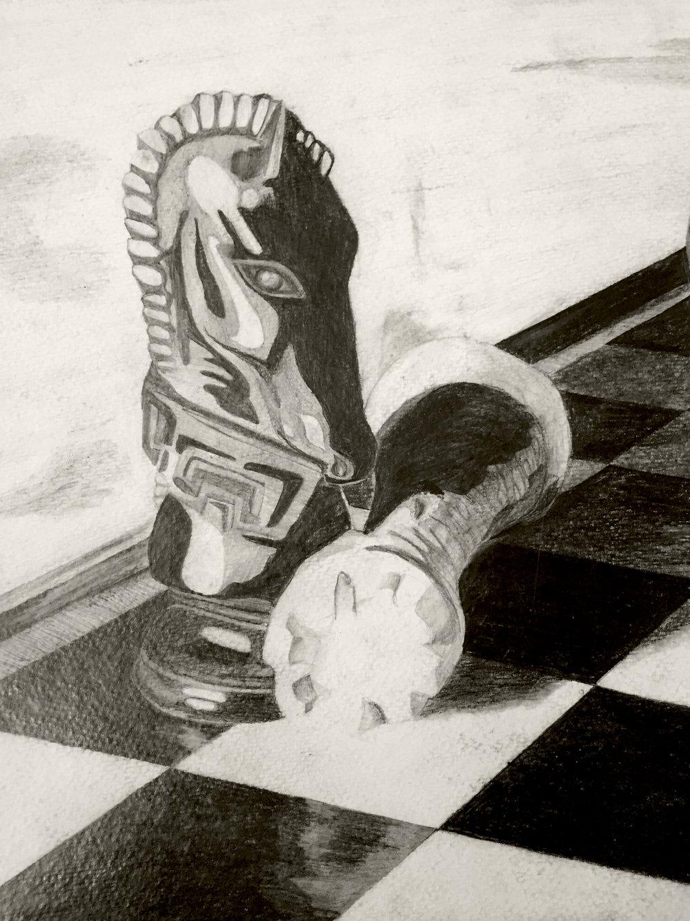 Knight study | Pencil | 2009