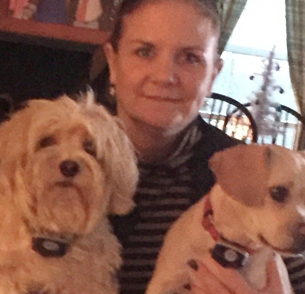 Mrs. Callahan with Teddy and Stella.