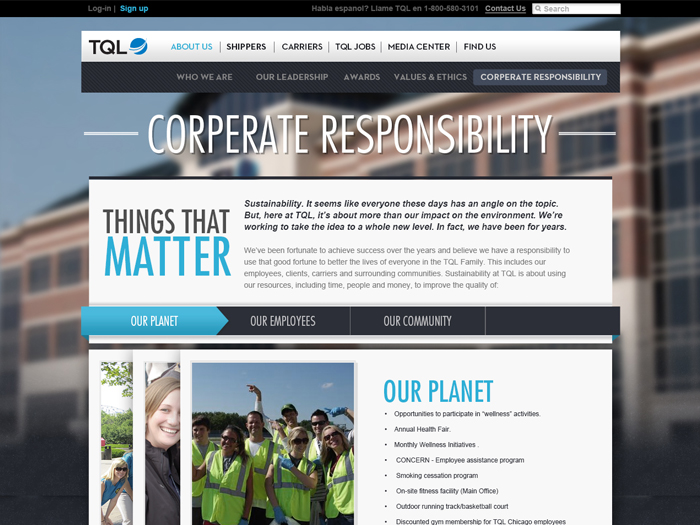 The TQL Corporate Responsibility Page