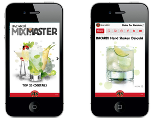 The Bacardi MIXMASTER Mobile App