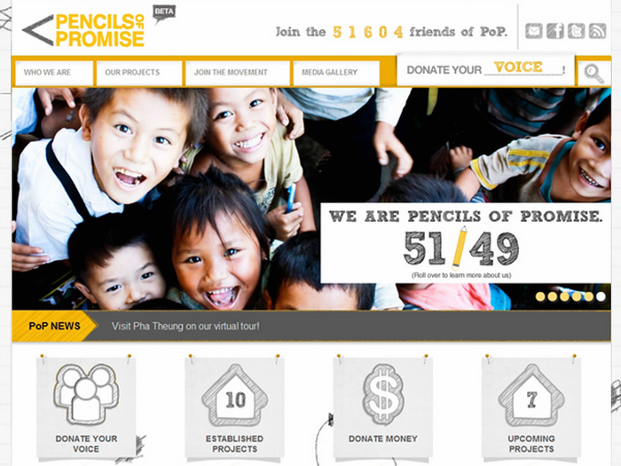 The Pencils of Promise Home Page