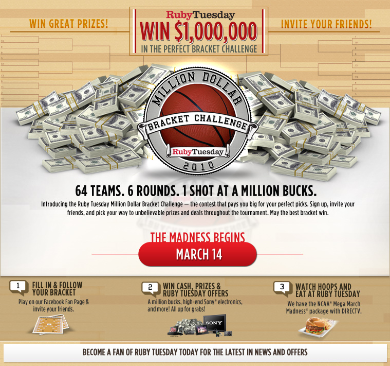 The Ruby Tuesday Bracket Challenge