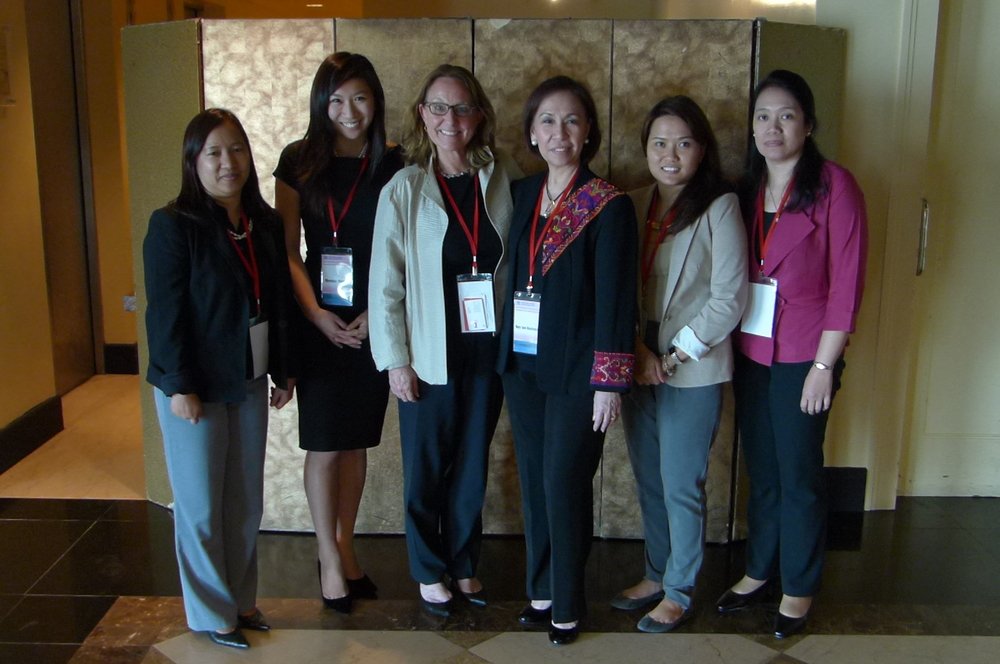 With delegates from the Philippines