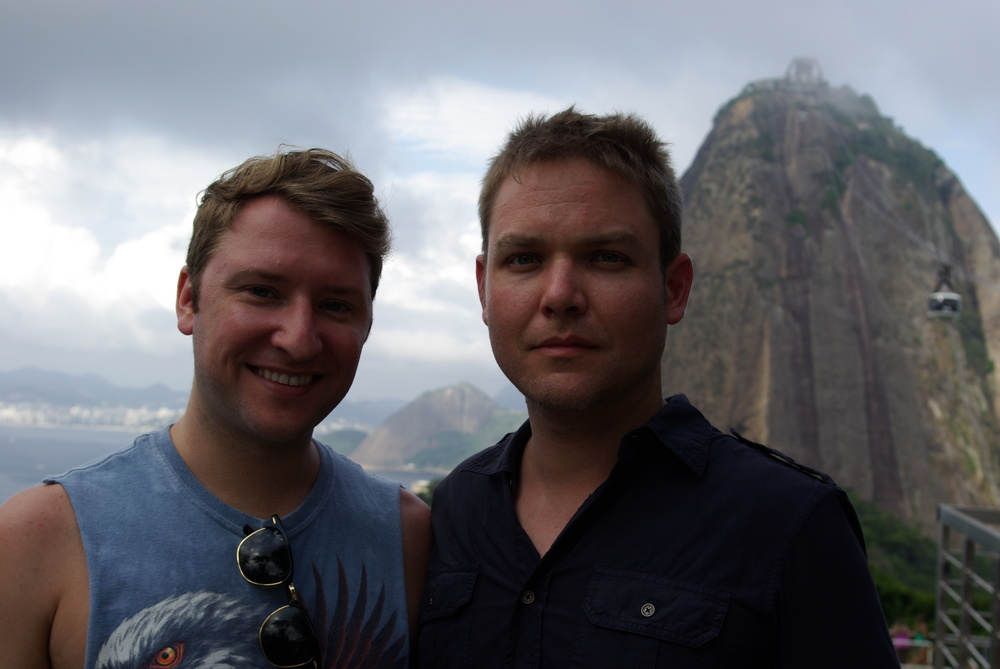 My husband and I on our honeymoon in Brazil, March 2015.