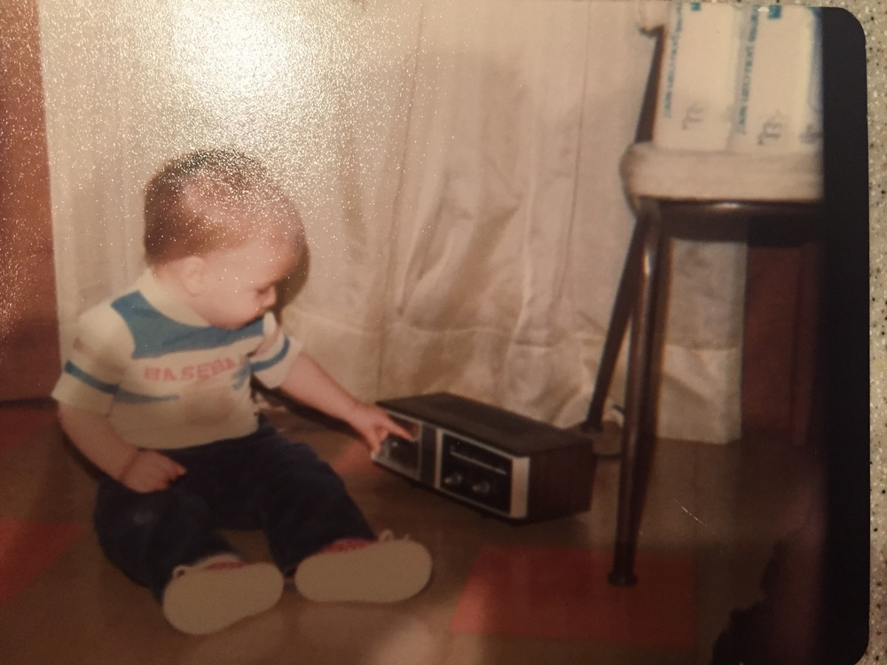 #TBT to me fascinated by music at a very young age.