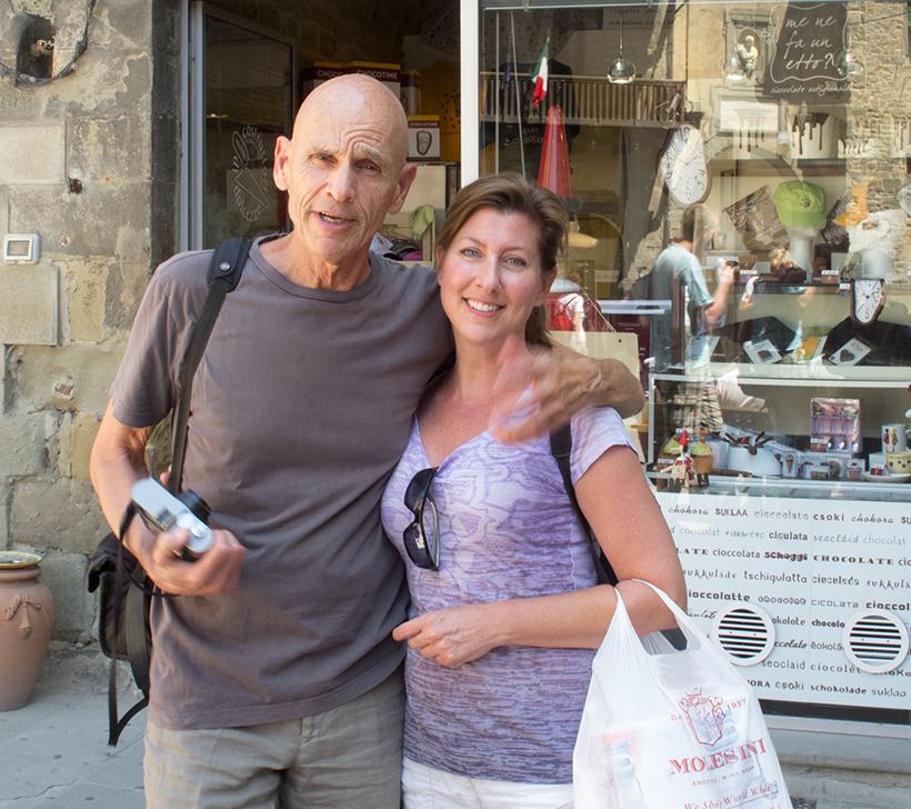 Joel Meyerowitz and me, Cortona, 2013