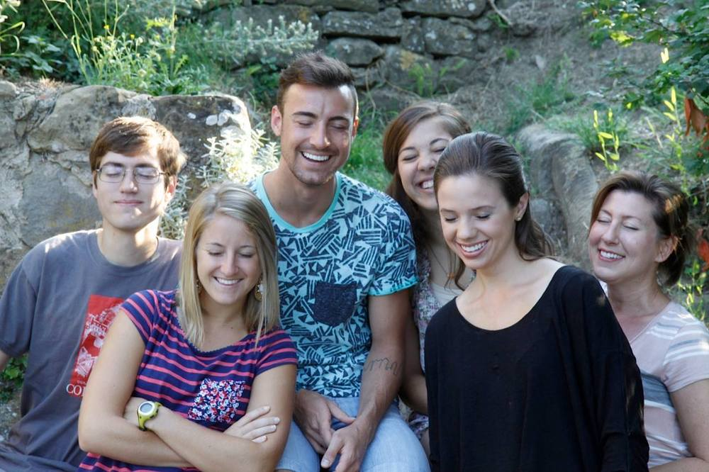 The moment my students and I all blinked at the same time, Cortona, Italy 2013 (Staged of course)