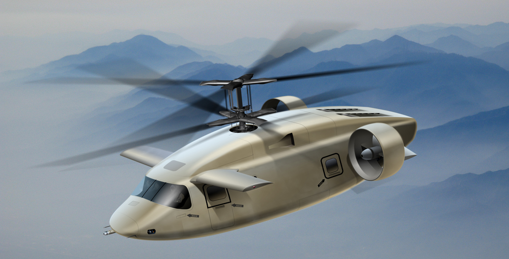 Illustration shows patented AVX design for UTILITY Mode JMR. Withclean aerodynamics and highest performancevalue for lowest cost, the AVX answers the Army's question about the FVL (Future of Vertical Lift).