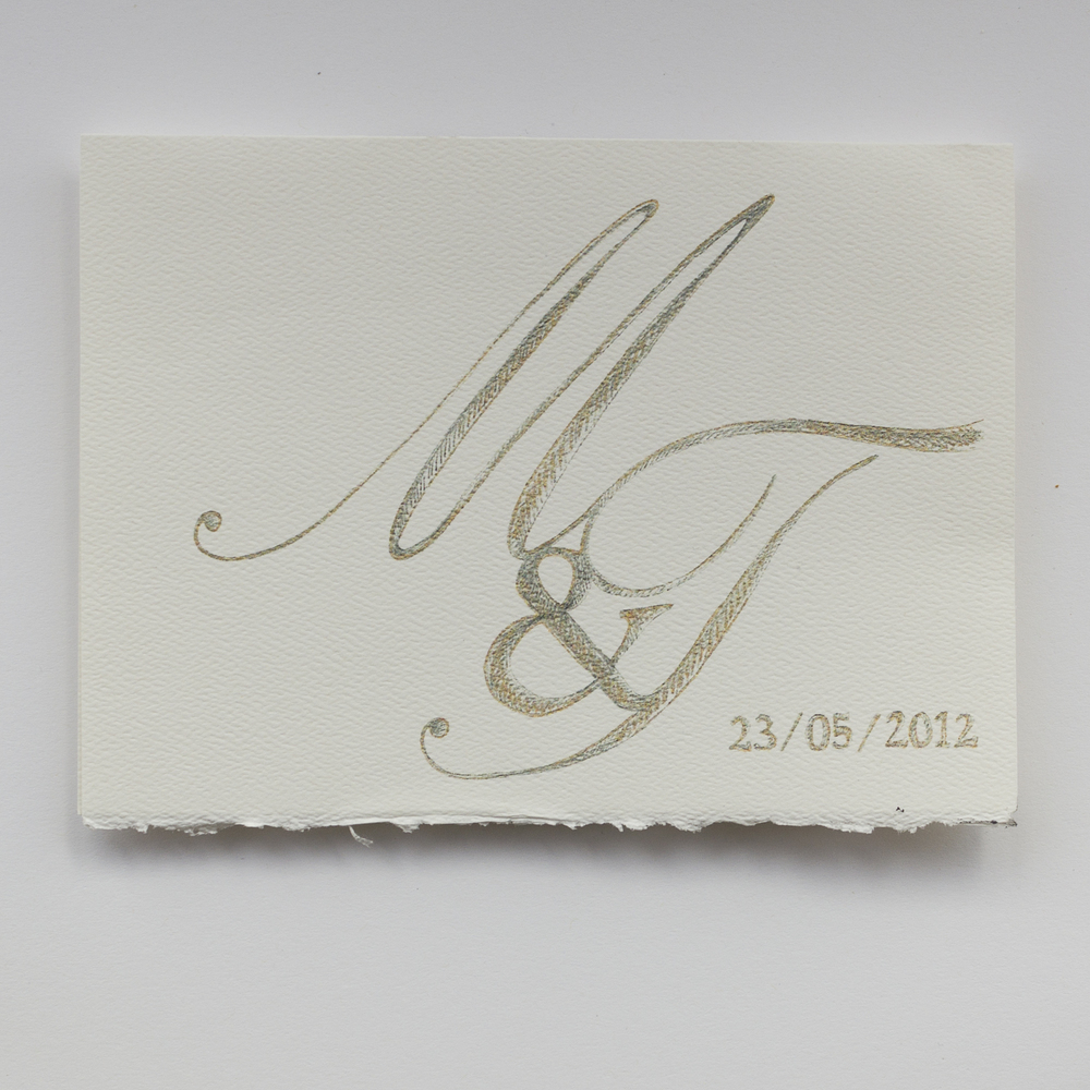 custom monogram wedding card