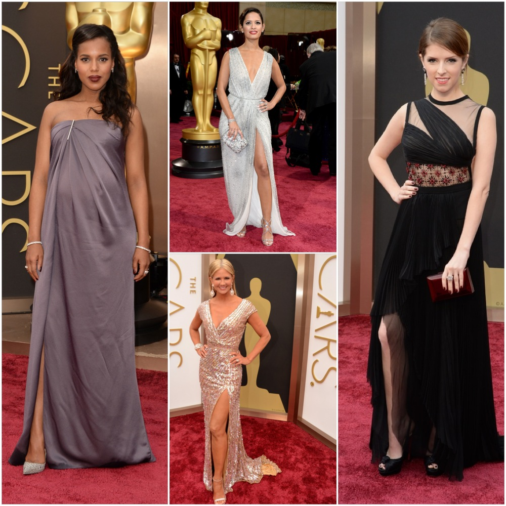 exposed leg - Angelina Jolie was trying too hard and so are these ladies, except for Kerry Washington - who at probably 8.5 months pregnant looks lovely. I wish I could say the same for the rest of them.