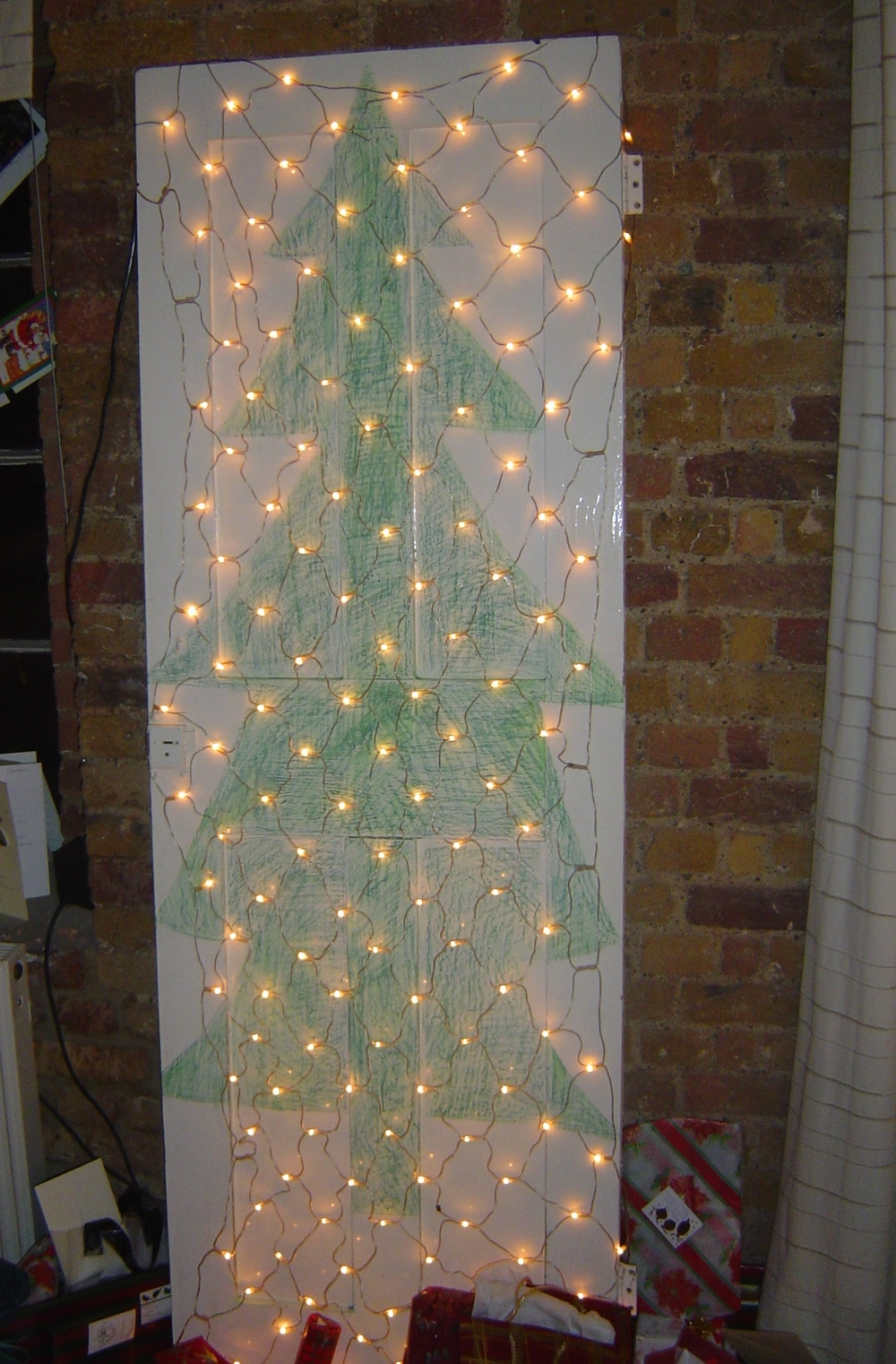 Same door. Really useful - doubled as Christmas tree.