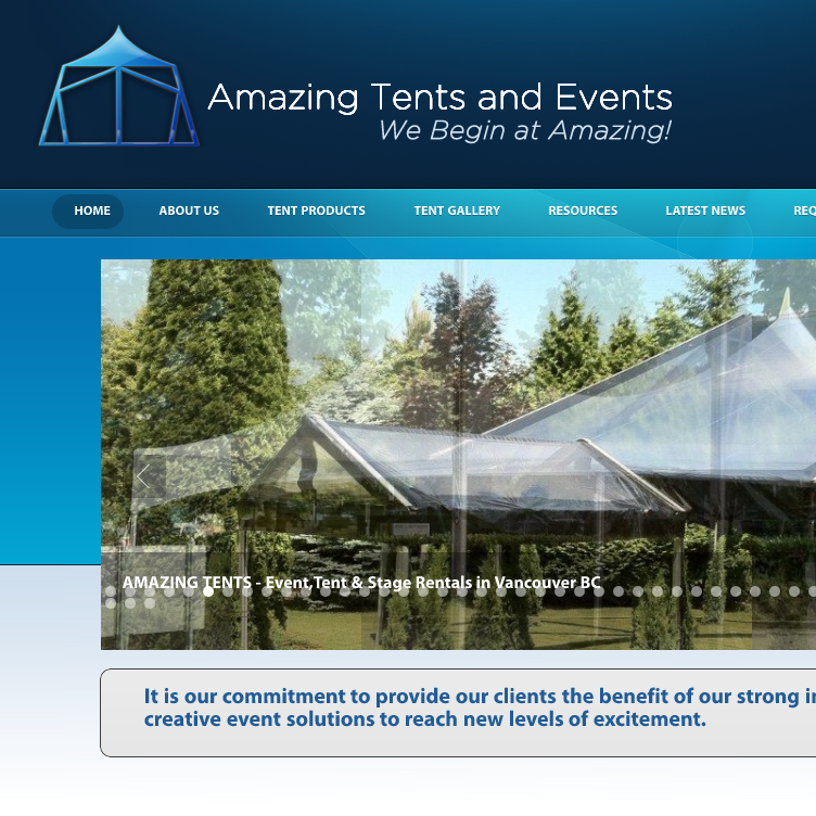 Various Tents and Events  We begin at satisfactory .