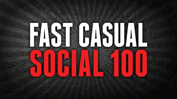 Fast Casual Social 100 - The only listing of the top brands in fast casual as selected by consumers.