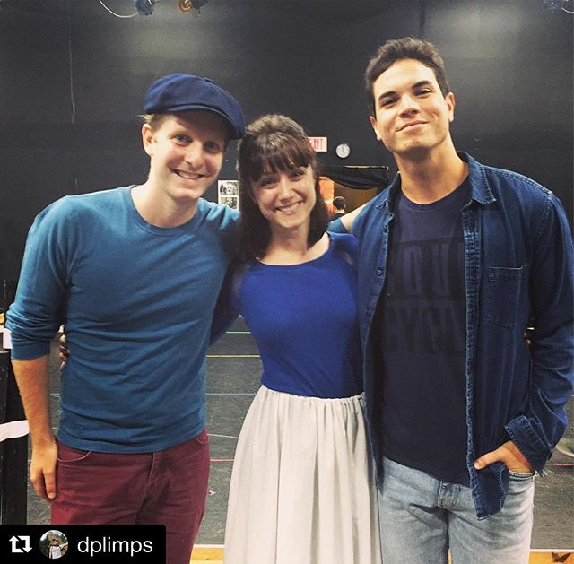 Davey, Katherine, and Jack 💙#teamblue @dplimps @jasongotay @nctheatre