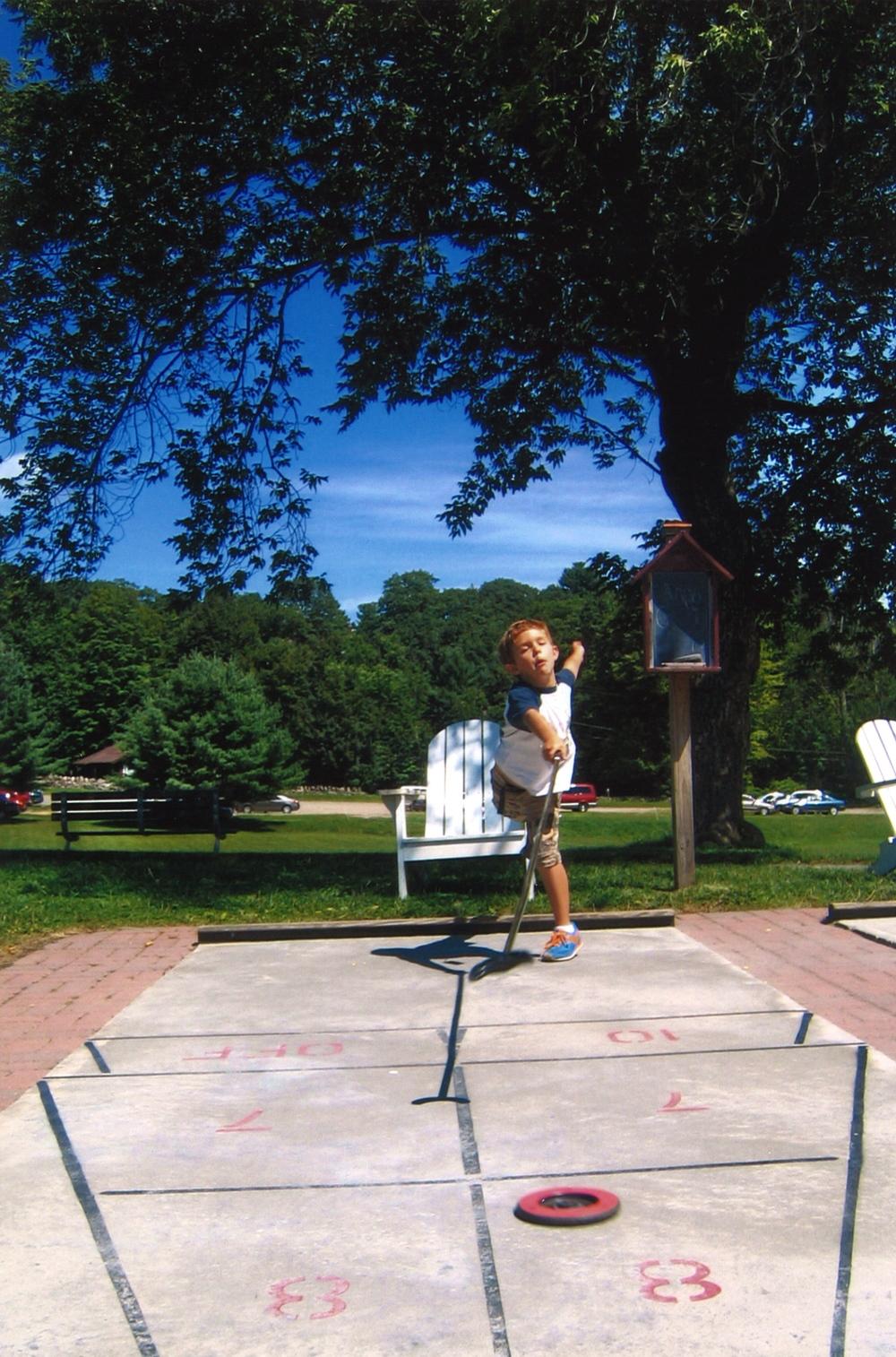 Isaac at shuffleboard || 2005