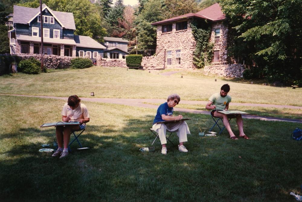 Nana in her watercolor class || 1990