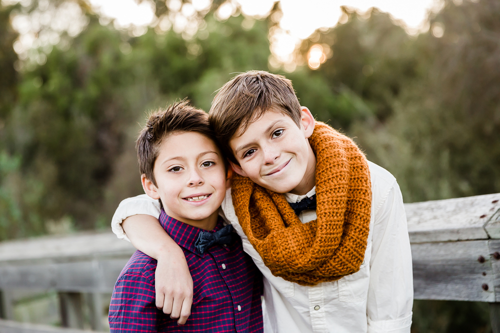 Image from a Family Session with two boys close together