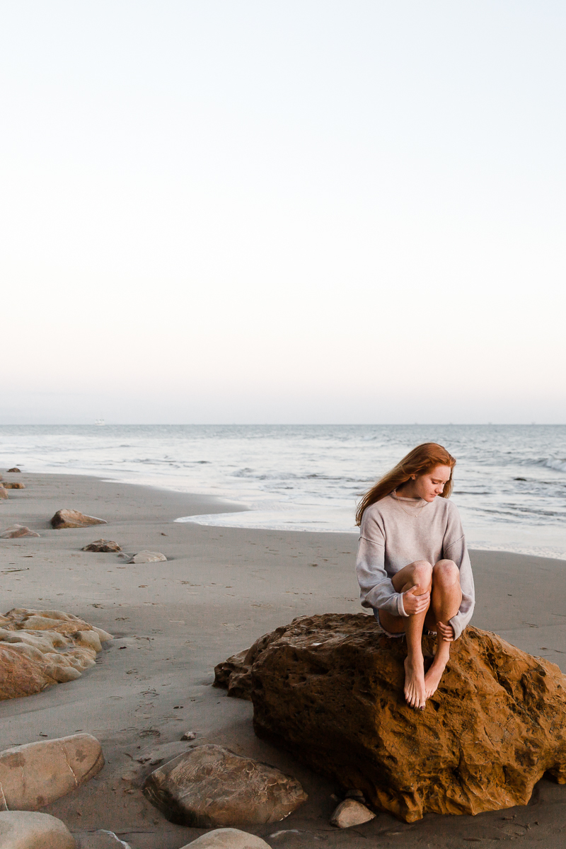 ABI ARCHER || Senior Photos || Ledbetter Beach, Santa Barbara